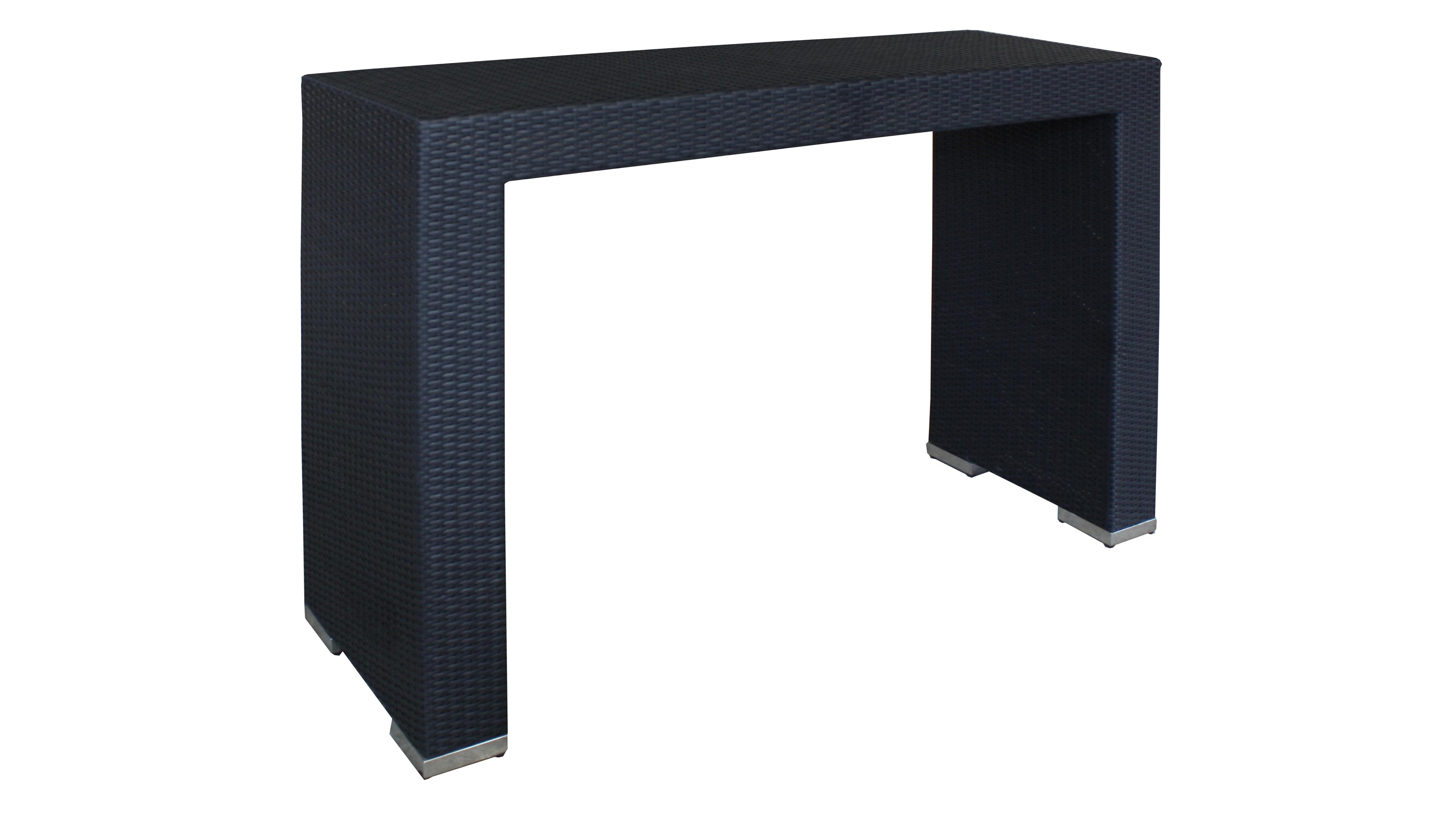 Tavolo alto da bar e bistrot in polyrattan insula for Tavolo alto da bar