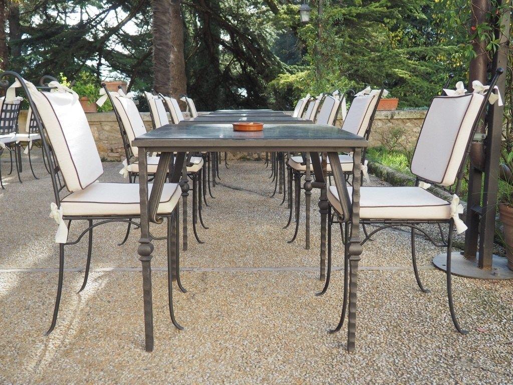 Tavolo in ferro battuto arezzo for Tavolo ferro esterno