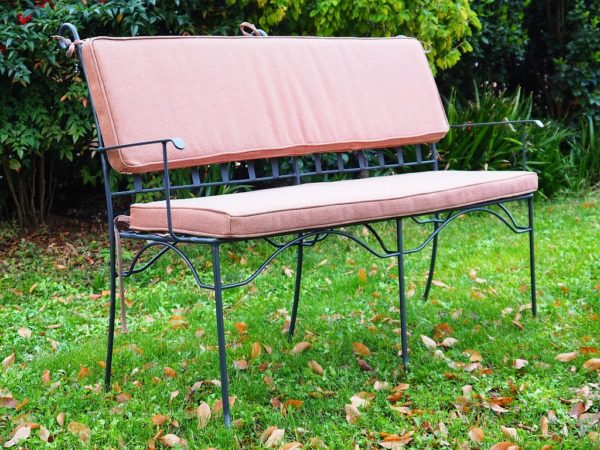 Panca da giardino in ferro battuto